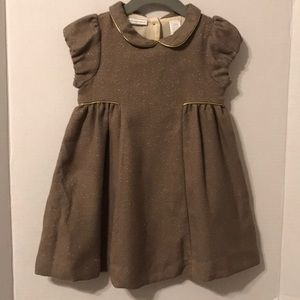 First Impressions Tweed Brown Dress